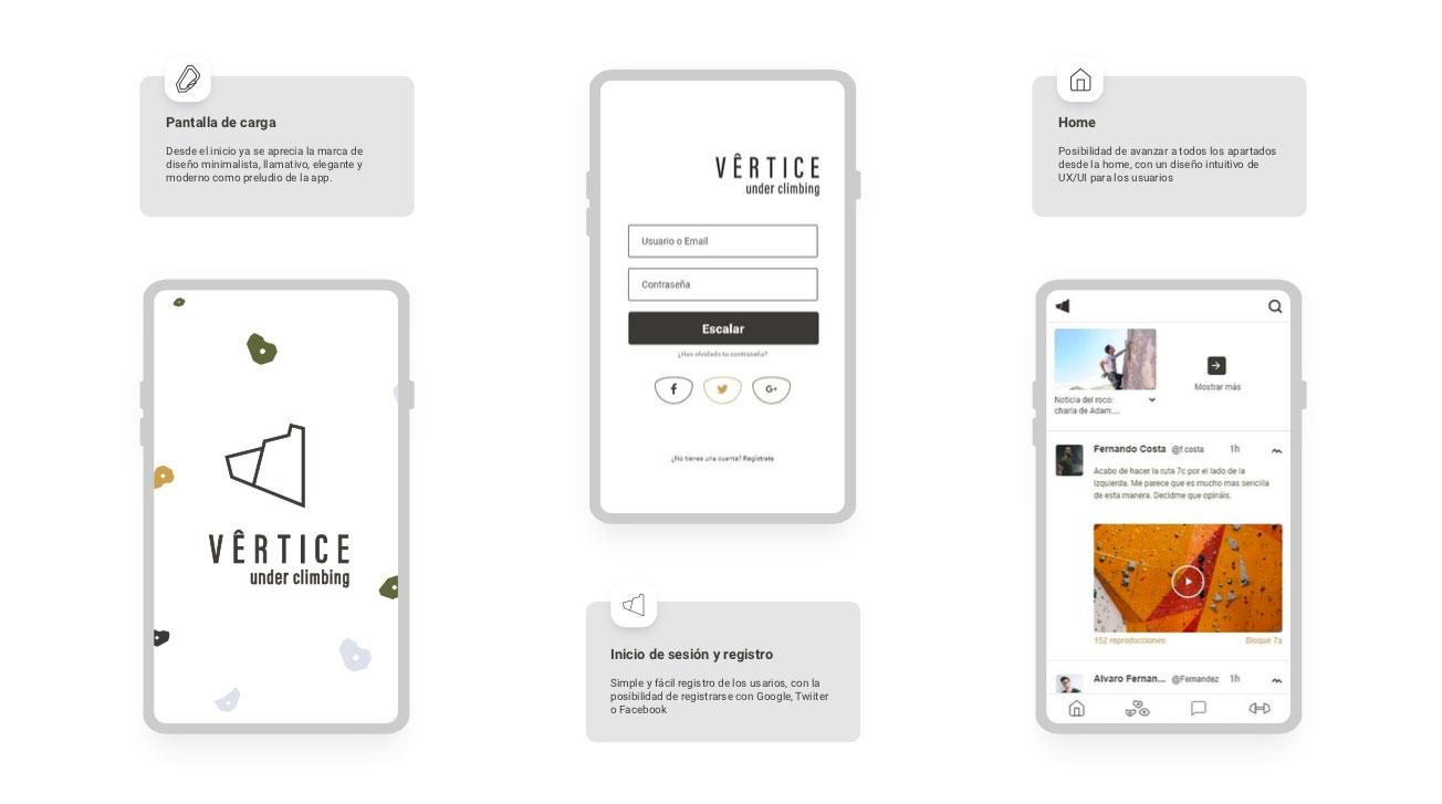 Vertice-app. Diseño UX / UI